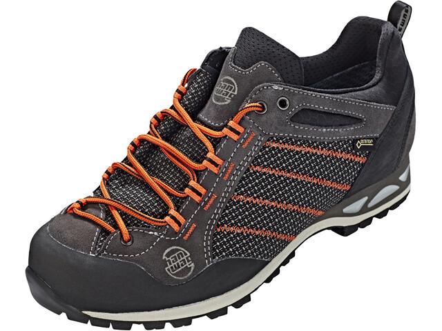 Hanwag Makra Low GTX - Chaussures Homme - gris/orange
